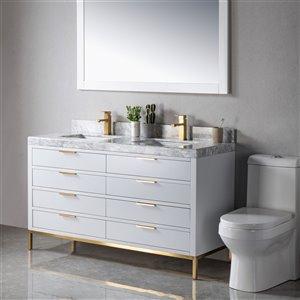 Meuble-lavabo Eloise gris/or de 60 po par Jade Bath