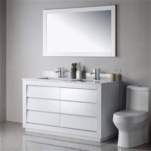 Meuble-lavabo Jacqueline gris/or de 60 po par Jade Bath