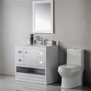 Meuble-lavabo Lisette gris/nickel brossé de 36 po par Jade Bath
