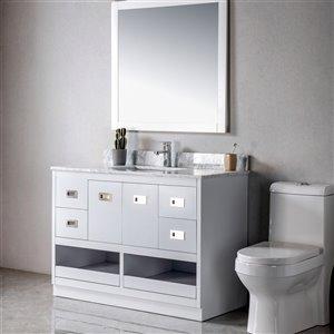 Meuble-lavabo Lisette gris/nickel brossé de 48 po par Jade Bath