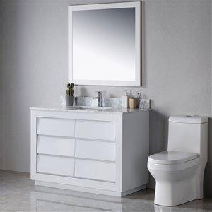 Meuble-lavabo Jacqueline gris/or de 48 po par Jade Bath