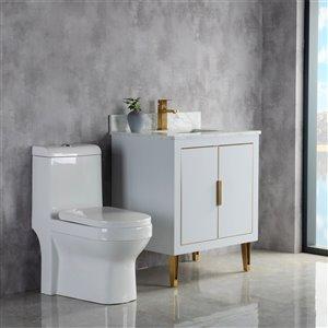 Meuble-lavabo Estelle gris/or brossé de 29 po par Jade Bath