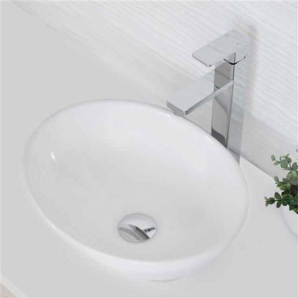 Bonde de vidage pour salle de bains sans trop-plein Stylish, chrome