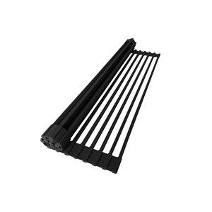 Support à vaisselle et plateau perforé en métal Stylish, 20,5 po x 13,25 po, noir