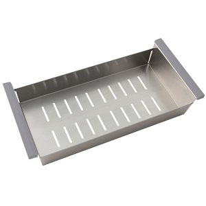 Stylish Stainless Steel Over the Sink Colander with Non-slip Handle