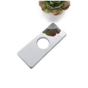 Stylish Single Hole Bathroom Faucet Plate - Polished Chrome