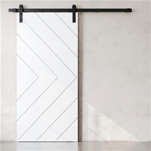 Urban Woodcraft Faro Prefinished MDF Barn Door with Hardware Included (Common: 40-in x83-in; Actual: 40-in x83-in) - White