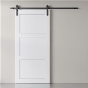 Urban Woodcraft Desha White Prefinished MDF Barn Door Hardware Included (Common: 40-in x83-in; Actual: 40-in x83-in)