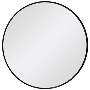 Decor Wonderland En Passant 27.5-in Wood Round Bathroom Mirror