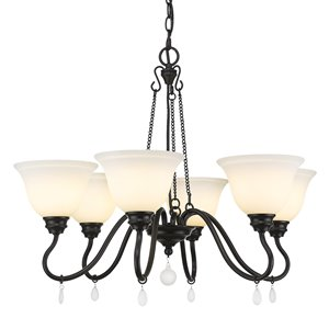Golden Lighting Donya 6-Light Matte Black Traditional Chandelier