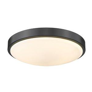 Golden Lighting Gabi 12.25-in Opal Glass Contemporary/Modern LED Flush Mount Light – 1-Pack