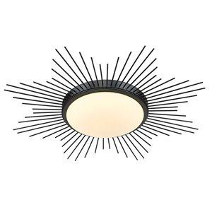 Golden Lighting Kieran 24-in Opal Glass Contemporary/Modern LED Flush Mount Light – 1-Pack
