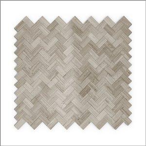 Échantillon de tuile murale 4 po x 4 po pierre naturelle gris chevron 3X Faster de SpeedTiles