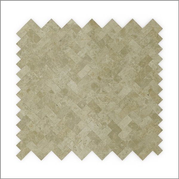 SpeedTiles 3X Faster Beige 12-in x 12-in Polished Natural Stone Marble Herringbone Adhesive Peel-and-Stick Tile – 6-Pack