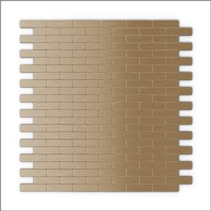SpeedTiles 3X Faster Light Copper 4-in x 4-in Aluminum Brick Wall Tile Tile Sample