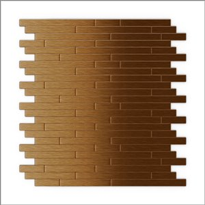 SpeedTiles 3X Faster Dark Copper 12-in x 12-in Brushed Aluminum Linear Adhesive Peel-and-Stick Tile – 6-Pack