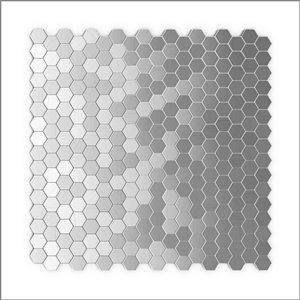 SpeedTiles 3X Faster Stainless Steel 4-in x 4-in Aluminum Honeycomb Wall Tile Tile Sample
