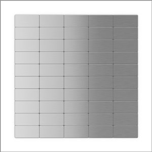 SpeedTiles 3X Faster Stainless Steel 4-in x 4-in Aluminum Brick Wall Tile Tile Sample