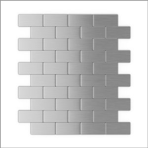 SpeedTiles 3X Faster Stainless Steel 4-in x 4-in Aluminum Brick Wall Tile – Tile Sample