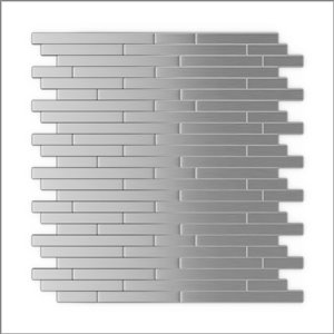 SpeedTiles 3X Faster Stainless Steel 12-in x 12-in Brushed Aluminum Linear Adhesive Peel-and-Stick Tile – 6-Pack