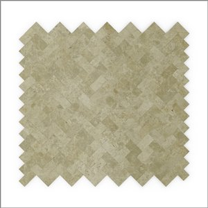 SpeedTiles 3X Faster Beige 4-in x 4-in Natural stone Herringbone Wall Tile Tile Sample