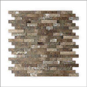 SpeedTiles 3X Faster Brown 4-in x 4-in Natural stone Linear Wall Tile Tile Sample