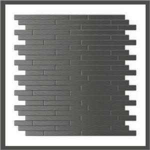 SpeedTiles 3X Faster Dark Grey 12-in x 12-in Brushed Aluminum Linear Adhesive Peel-and-Stick Tile – 6-Pack