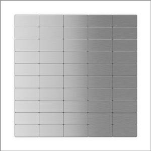 Tuile SpeedTiles 3X Faster aluminium brossé lisse acier inoxydable brique 12 po x 12 po peler et coller, paquet de 6