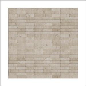 Tuile SpeedTiles 3X Faster pierre naturelle polie lisse greige 12 po x 12 po linéaire adhésif peler et coller, paquet de 6