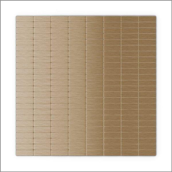 SpeedTiles 3X Faster Light Copper 4-in x 4-in Aluminum Linear Wall Tile – Tile Sample
