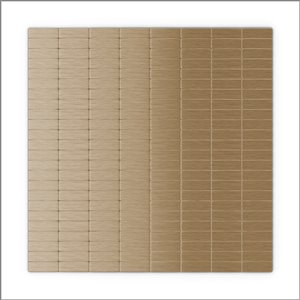 SpeedTiles 3X Faster Light Copper 4-in x 4-in Aluminum Linear Wall Tile – Tile Sample