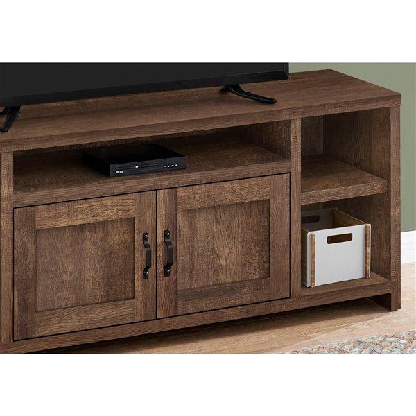 Meuble de télévision à 5 tablettes de Monarch Specialties, brun
