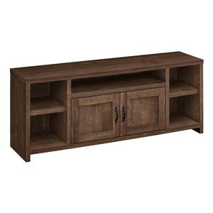 Monarch Specialties 5-Shelf TV Stand, Brown