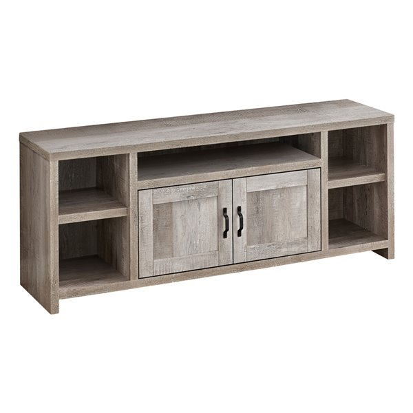 Monarch Specialties 5-Shelf TV Stand, Taupe