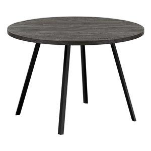 Table de salle à manger fixe ronde standard de Monarch Specialties, surface en composite et base en métal, noir