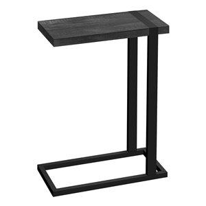 Table d'appoint en forme de C rectangulaire en composite de Monarch Specialties, 25 po x 19,25 po, noir
