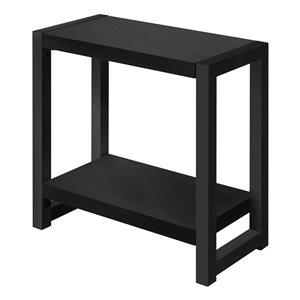 Table d'appoint rectangulaire en composite de Monarch Specialties, 22 po x 23,75 po, noir