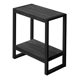Table d'appoint rectangulaire en composite de Monarch Specialties, 23,75 po x 23,75 po, noir