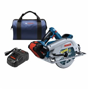 Bosch ProFactor 18-Volt 7 1/4-in Brushless Cordless Circular Saw with Brake and Magnesium Shoe (1-Battery Included)