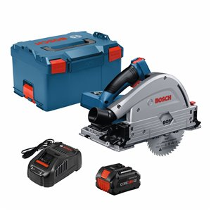 Bosch ProFactor 18-Volt 5 1/2-in Brushless Cordless Circular Saw with Brake and Magnesium Shoe (1-Battery Included)