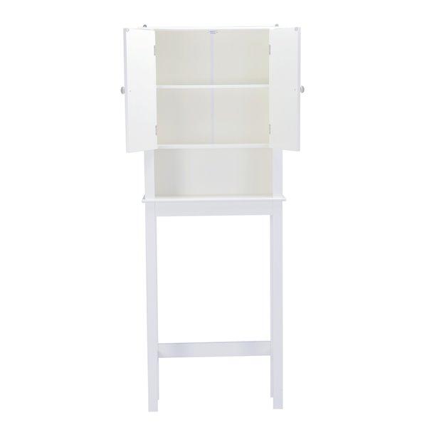Armoire pour dessus de toilette en MDF Axil V de A&E Bath & Shower, 24 po L x 63 po H x 9 po P, blanc