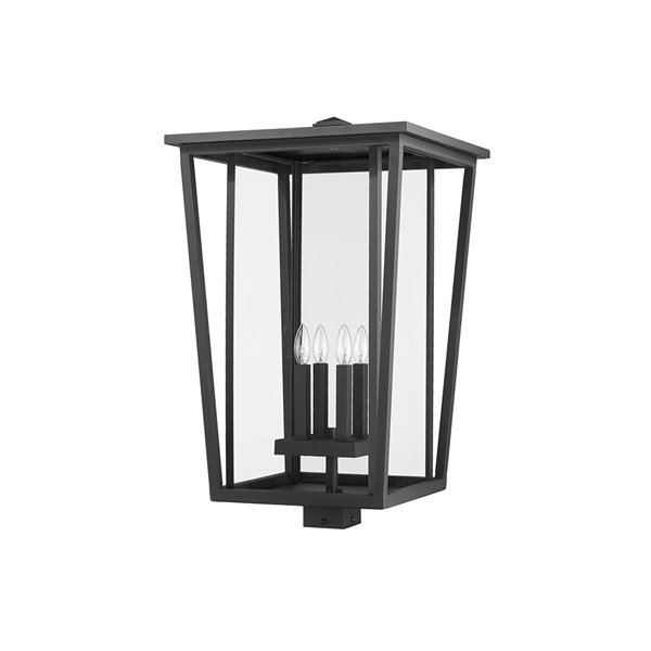 Z-Lite Seoul 1-Watt 29.25-in Black Modern/Contemporary Post light