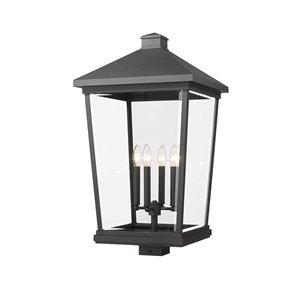 Z-Lite Beacon 1-Watt 29.75-in Black Modern/Contemporary Post light