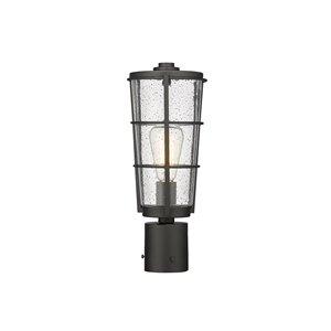 Z-Lite Helix 1-Watt 15.25-in Black Modern/Contemporary Post light