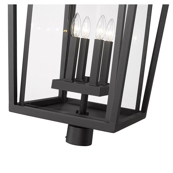 Z-Lite Seoul 1-Watt 30.75-in Black Modern/Contemporary Post light