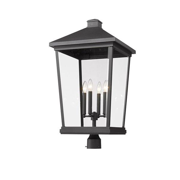 Z-Lite Beacon 1-Watt 31-in Black Modern/Contemporary Post light