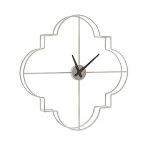 Horloge murale analogique en métal Morrissey par Gild Design House, argent