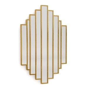 Miroir mural irrégulier en métal doré par Gild Design House, 2 po L x 21 po l