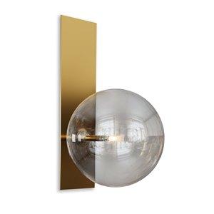 Applique murale moderne contemporaine de 7 po par Gild Design House, 1 lumière, laiton et or