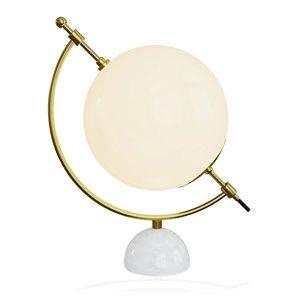 Lampe de table standard de 18 po avec abat-jour en verre et LED par Gild Design House, laiton et or (lot de 1)
